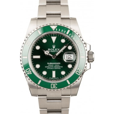 Rolex Hulk Submariner 116610V Green JW2193