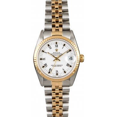 Rolex Mid-Size Datejust 68273 White Roman Dial JW2208