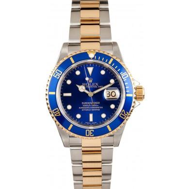 Rolex Submariner Blue 16613T Gold Clasp JW2484