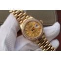 Cheap Copy Rolex DateJust 31mm Diamonds Bezel Case Gold Dial WJ00039