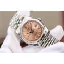 Fake Rolex DateJust 36mm 116234 Pink Dial Stick Markers 904L Oyster Bracelet WJ01214