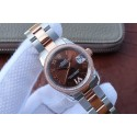 Rolex DateJust 31mm 178383 Diamonds Bezel Roman Markers Brown Dial WJ00604