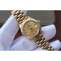 Rolex DateJust 31mm Fluted Bezel Gold Dial Bracelet Rolex WJ00056