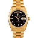 Rolex President Bark 18078 Diamond Dial JW2320