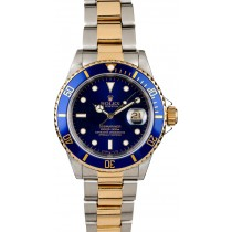 Replica Blue Dial Rolex Submariner 16613 Oyster Bracelet JW0044