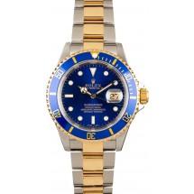 Blue Rolex Submariner 16613 Mens JW0045