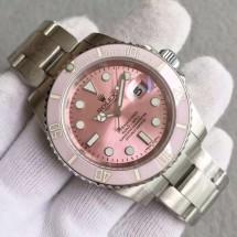 Copy Rolex Submariner Lady Pink Bezel Pink Dial Bracelet WJ00892