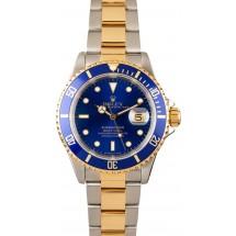 Designer Replica Rolex Steel and Gold Blue Submariner 16613 JW2389