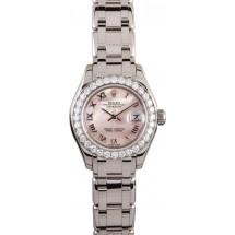 Knockoff Ladies Rolex Pearlmaster Diamond Bezel JW0350