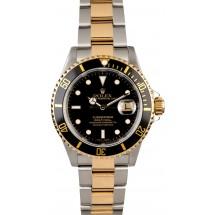 Men's Rolex Submariner 16613 Gold Thru Clasp JW0741