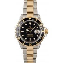 Men's Rolex Submariner 16613 Two Tone Watch JW0743