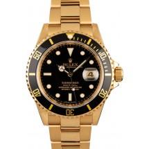 Men's Rolex Submariner 16618 Yellow Gold Oyster JW0744