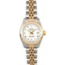 Replica Rolex Ladies Datejust 69173 White Dial JW0475
