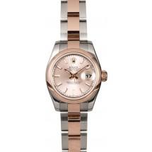 Replica Rolex Lady Datejust 179161PSO Rose Gold JW0533