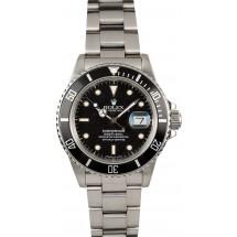 Rolex Black Submariner 16800 Stainless Steel JW1657