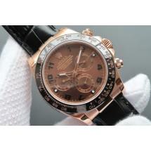 Rolex Daytona 116515 Chocolate Dial Black Leather Strap Rolex WJ00835