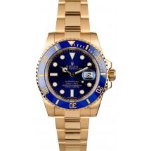 Rolex Gold Submariner 116618 Blue Dial JW2192