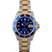 Rolex Submariner 16803 Blue Dial Two Tone Oyster JW2467