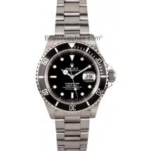 Rolex Submariner Black Dial Steel Oyster Bracelet Mens Watch 16610BKSO JW2481