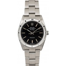 Steel Rolex Air-King 14010M Black Dial JW2603