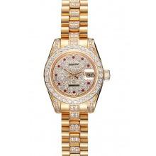 1:1 Swiss Rolex DateJust Diamond Dial Gold 622023