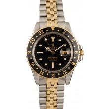 129072 Vintage Rolex GMT-Master 1675 Black Nipple Dial JW0005