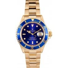 18K Gold Rolex Submariner 16618 JW0008