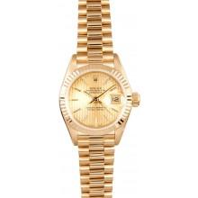 18K Ladies Rolex Datejust 69178 JW0263