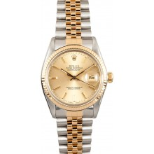 AAA Datejust Rolex Stainless/Gold 16013 Men's JW0203