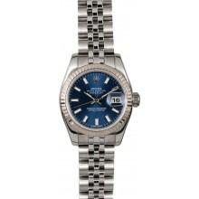 AAA Lady Rolex Datejust 179174 Blue Dial JW0368