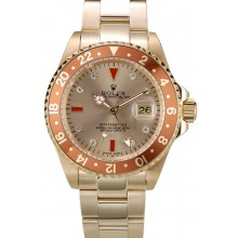 AAA Rolex GMT Master II Gold Colored Ceramic Bezel Gold Dial Tachymeter