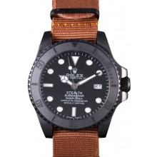 AAAAA Replica Rolex Submariner STEALTH MK IV Brown Fabric Band rl426 621388