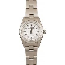 Best 1:1 Ladies Rolex Oyster Perpetual 76030 White Roman JW0343