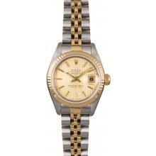 Best 1:1 Lady Rolex Datejust 69173 Champagne Tapestry Dial JW0371