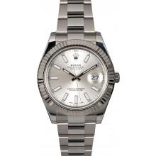 Best Quality Copy Rolex Datejust 116334 Silver Dial JW1802
