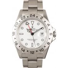 Best Quality Rolex Explorer II 16570 White Dial 100% Authentic JW2110