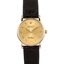 Best Rolex Men's Cellini 18K Yellow Gold 5115 JW2198