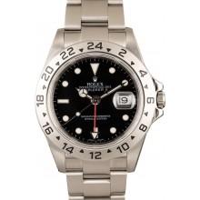 Black Dial Rolex Explorer II Ref 16570 Steel Oyster Bracelet JW0040