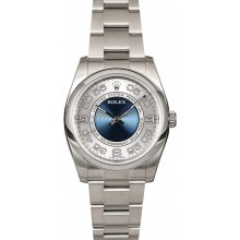 Certified Rolex Oyster Perpetual 116000 Concentric Blue Dial JW0171