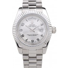 Cheap Rolex Day-Date Polished Stainless Steel White Dial