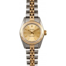 Cheap Rolex Lady Oyster Perpetual 67193 Champagne Dial JW0572