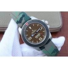 Cheap Rolex Submariner Commando Gray Dial Ceramic Bezel Rubber Strap Rolex WJ01278