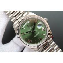 Copy Rolex Day-Date 40mm 228239 Olive Green Dial President Bracelet WJ01228