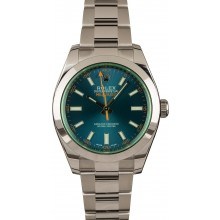 Copy Rolex Milgauss 116400GV Green Sapphire Crystal Blue Dial JW2212