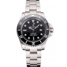 Copy Swiss Rolex Submariner Small Date Black Dial And Bezel Stainless Steel Case And Bracelet