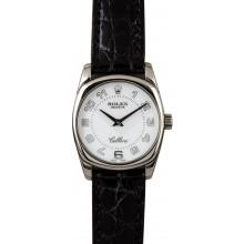 Designer Imitation Rolex Cellini Danaos 6229 White Gold Case JW1672