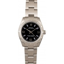 Fake High Quality Rolex Oyster Perpetual 177200 Black Dial JW2245