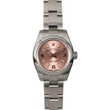 Fake Ladies Rolex Oyster Perpetual 176200 Pink Dial JW0334