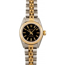Fake Ladies Rolex Oyster Perpetual 67193 100% Authentic JW0339