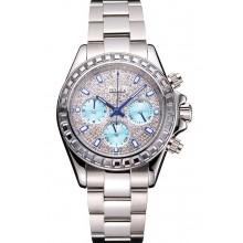 Fake Rolex Daytona Diamond Dial And Bezel Stainless Steel Case And Bracelet